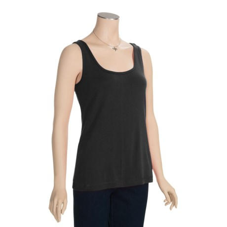 White Sierra Knit Tank Top - Cotton (For Women)