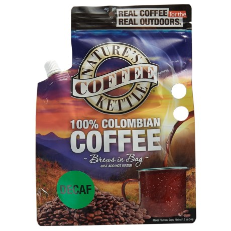 Nature's Coffee Kettle Columbian Decaf Coffee - 4-Cup