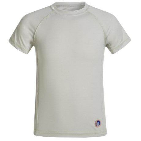 Mr. Swim Contrast Solid Rash Guard - UPF 50+, Short Sleeve (For Big Boys)