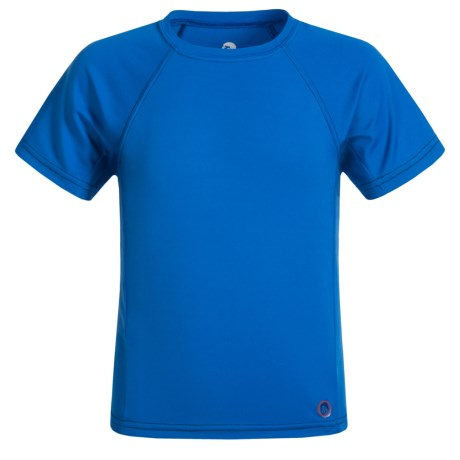 Mr. Swim Solid Rash Guard - UPF 50+, Short Sleeve (For Little Boys)