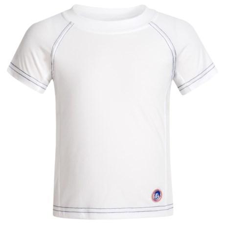 Mr. Swim Solid Rash Guard - UPF 50+ Short Sleeve (For Toddler Boys)