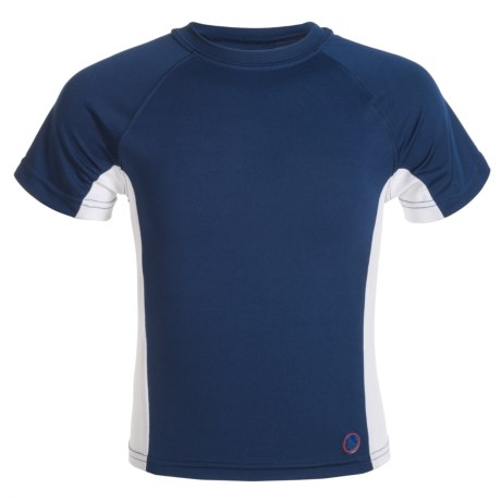 Mr. Swim Side-Panel Rash Guard - UPF 50+, Short Sleeve (For Little Boys)
