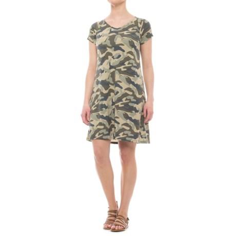 CG Cable & Gauge Swing Dress - V-Neck, Short Sleeve (For Women)