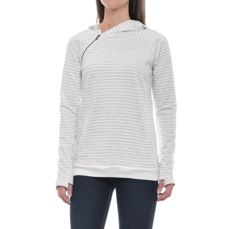 CG Cable & Gauge Asymmetrical Zip Hooded Sweatshirt (For Women)