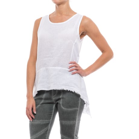 XCVI Kleo Sharkbite Tank Top - Linen (For Women)