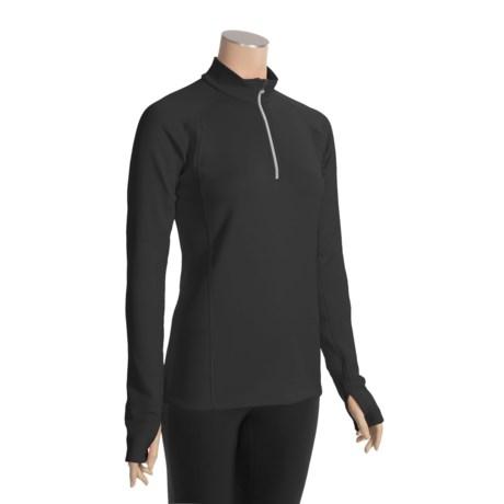 Marker Active Plus Zip Mock Turtleneck - Fleece, Long Sleeve (For Women)