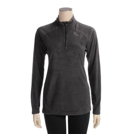 Marker Fleece Shirt- Zip Neck, Long Sleeve (For Women)