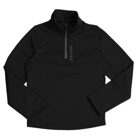 Marker Active Zip Turtleneck - Stretch Fleece, Long Sleeve (For Boys)