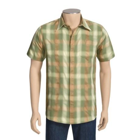 Sage Plaid Shop Shirt - UPF 30+, Short Sleeve (For Men)