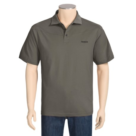 Sage High-Performance Polo Shirt - UPF 30+, Short Sleeve (For Men)
