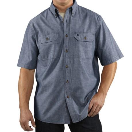 Carhartt Lightweight Chambray Shirt - Short Sleeve, Factory Seconds (For Tall Men)