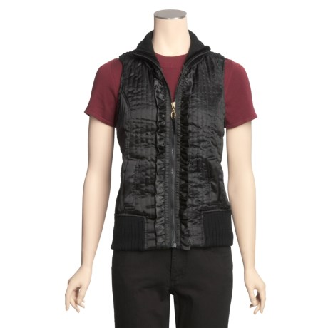 Ethyl Silky Vest - Knit Back (For Women)
