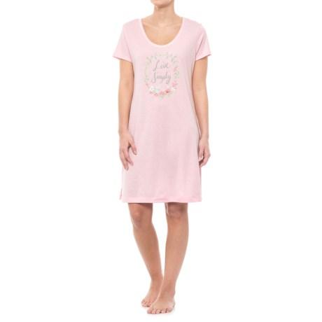Carole Hochman Graphic Sleep Shirt - Short Sleeve (For Women)