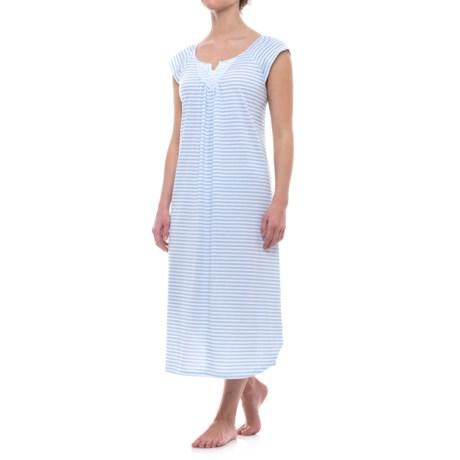 Carole Hochman Ballet Stripe Nightgown - Short Sleeve (For Women)