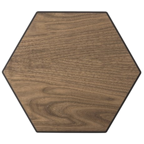 Epicurean Display Series Hexagon Serving Tray and Cutting Board - 11.25x13""