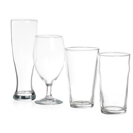 Home Essentials & Beyond Home Essentials Beer Den Beer Glasses - 16 fl.oz., Set of 4