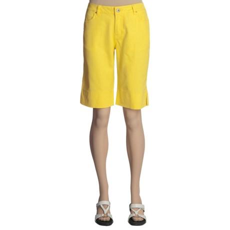 Ethyl Bermuda Shorts - Stretch Cotton Twill (For Women)