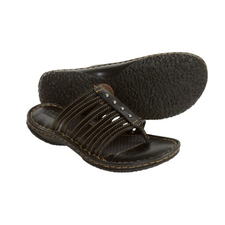 Born Ela Sandals - Leather Slides (For Women)