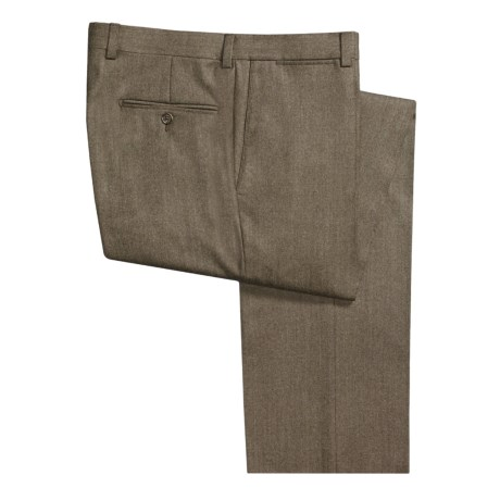 Riviera Heathered Flannel Pants - Flat Front (For Men)
