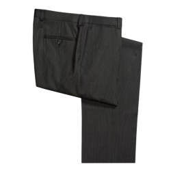 Riviera Wool Mini Stripe Pants - Flat Front (For Men)