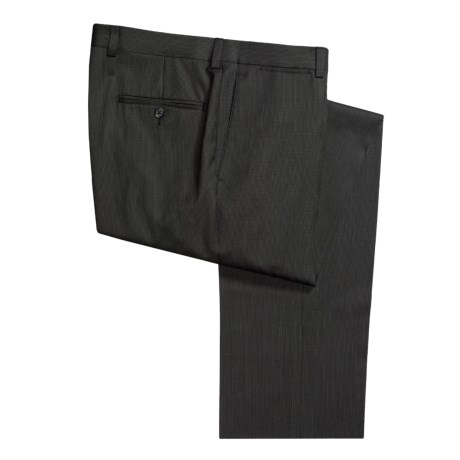 Riviera Wool Mini Stripe Pants - Flat Front (For Men)
