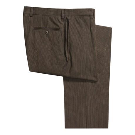 Riviera Stripe Pants - Cotton, Flat Front (For Men)