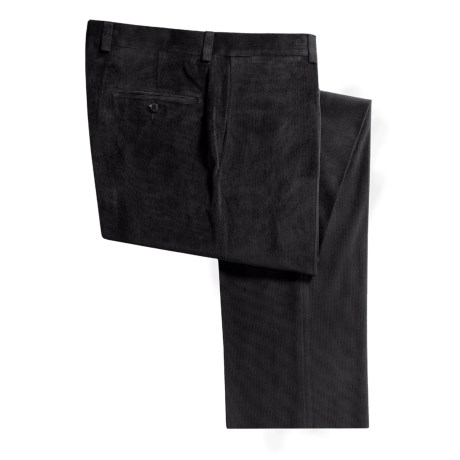 Riviera Micro-Cord Pants - Flat Front (For Men)