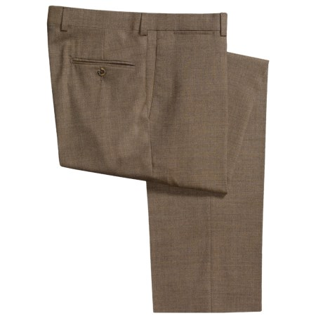 Riviera Wool Pants - Flat Front (For Men)
