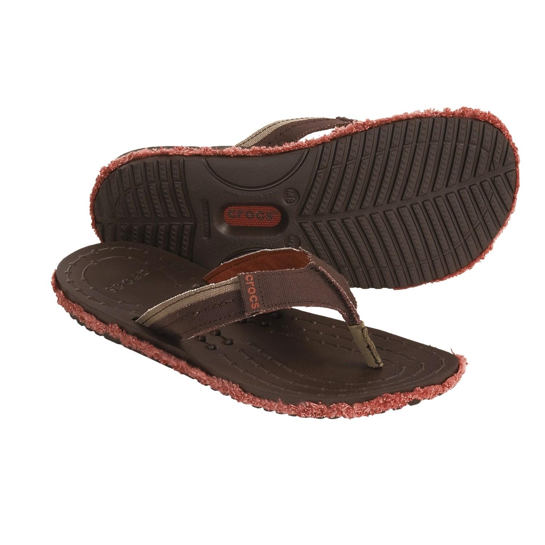 9b44f176dacb Crocs Melbourne Flip Canvas Sandals (For Men and Women .