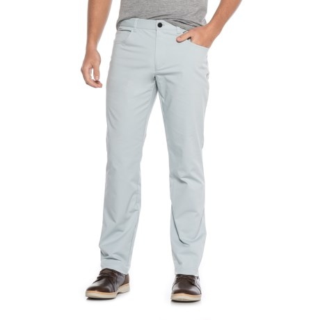 Specially made Five-Pocket Flat-Front Solid Stretch Pants (For Men)
