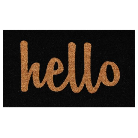 Home and More Hello Script Coir Welcome Mat - 18x30""