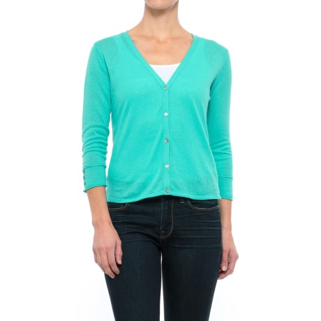 Nomadic Traders Linen-Cotton Cardigan Sweater - Button Cuff (For Women)
