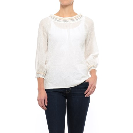 Nomadic Traders NTCO Dobby Peasant Top - Long Sleeve (For Women)