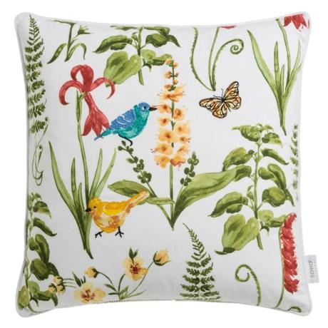 "Soho Living Botanical Ferns Decor Pillow - 20x20"", Feathers"