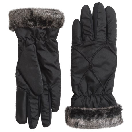 Weatherproof Faux-Fur-Lined Winter Gloves - Touchscreen Compatible (For Women)