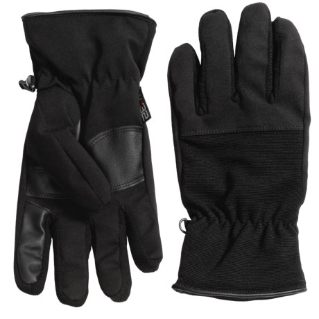 32 Degrees Weatherproof Soft Shell Stretch Gloves - Touchscreen Compatible (For Men)