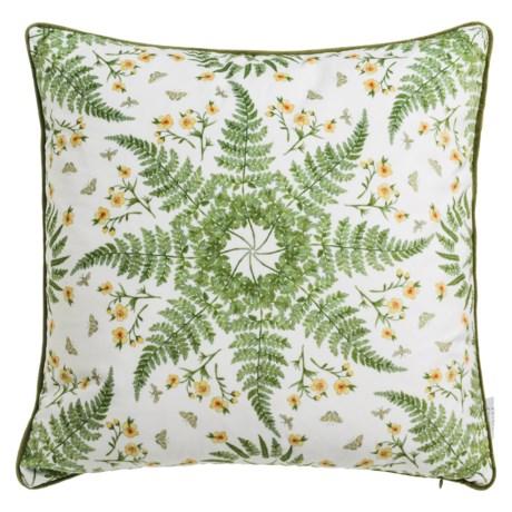 """Soho Living Fern Kaleidoscope Velvet Decor Pillow - 20x20"""", Feathers"""