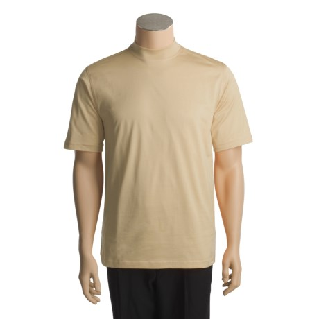 Raffi Mock Neck T-Shirt - Pima Cotton, Short Sleeve (For Men)