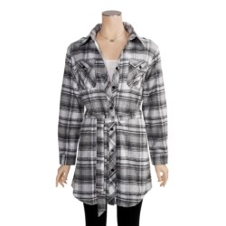Nina Capri Flannel Tunic Shirt - Removable Belt, Long Sleeve (For Women)