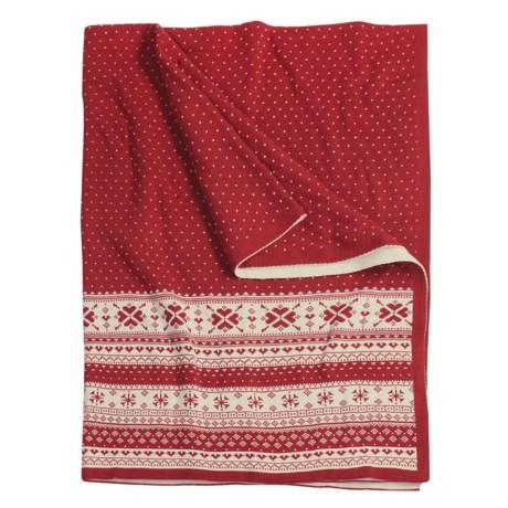 "Melange Home Cotton Throw Blanket - Sweater Knit, 50x70"""