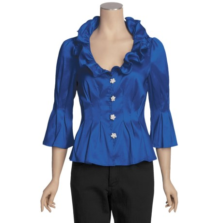 Chetta B Ruffle Shirt - ¾ Sleeve (For Women)