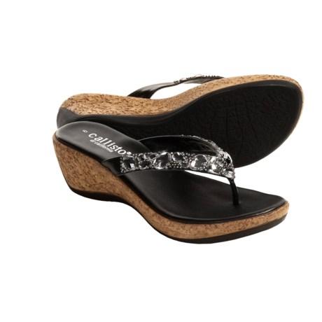 Callisto of California Jax Wedge Sandals (For Women)