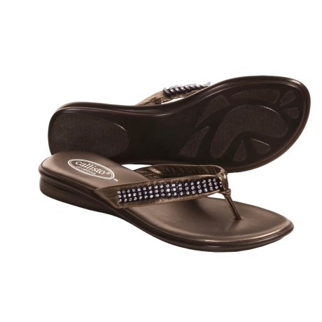 Callisto of California Jordi Sandals - Nappa Leather Thongs (For Women)
