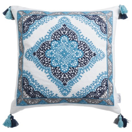 "Artistic Accents Lace Medallion Decor Pillow - 20x20"", Feathers"