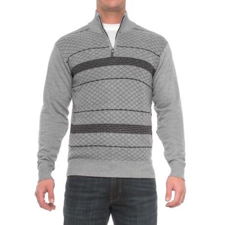 Enzo Cavalleri Zip Neck Sweater (For Men)