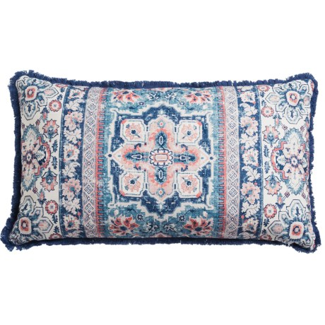"Bella Lux Kilim Decor Pillow - 14x24"", Feathers"