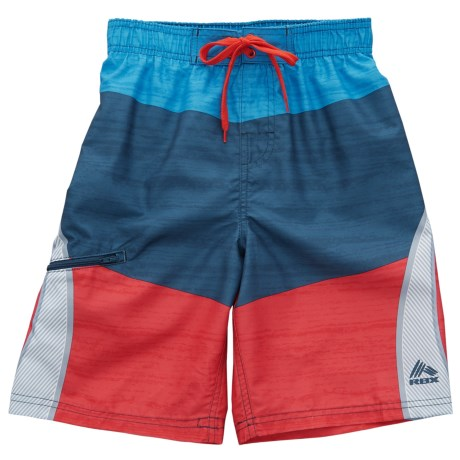 RBX Color-Block Swim Trunks (For Boys)