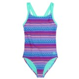 RBX Printed One-Piece Swimsuit (For Girls)