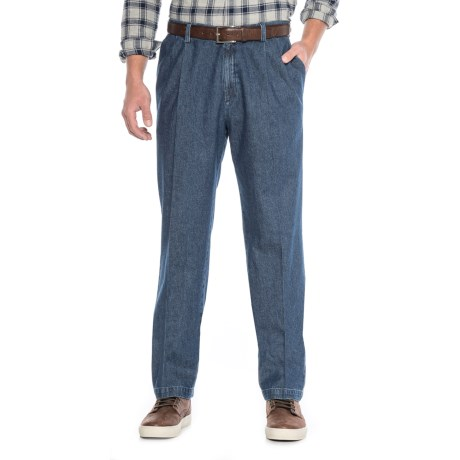 Haggar Work to Weekend Pleated Jeans - Classic Fit, Stretch Waistband (For Men)