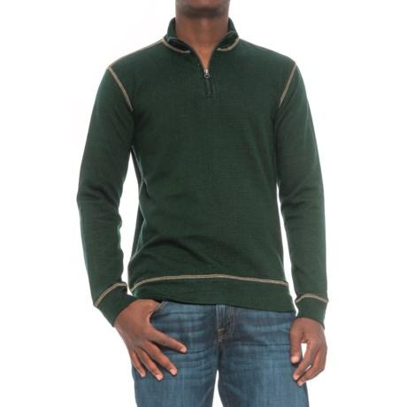 Vintage 1946 French Terry Slub Sweater - Zip Neck (For Men)